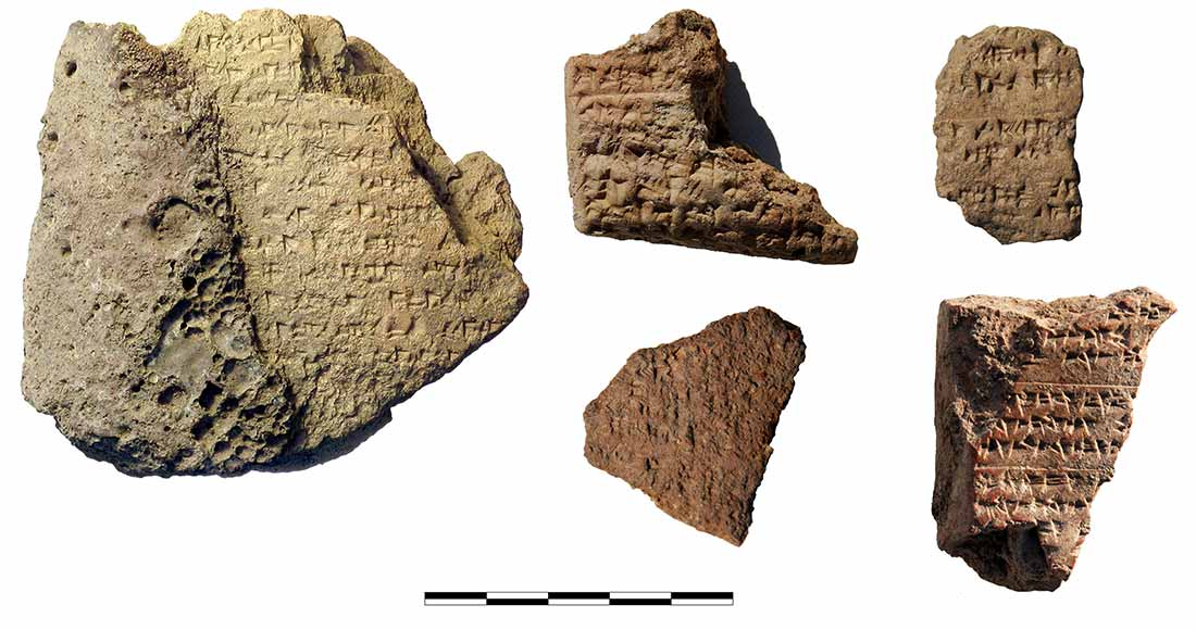 5 fragments of cuneiform tablets from the surface